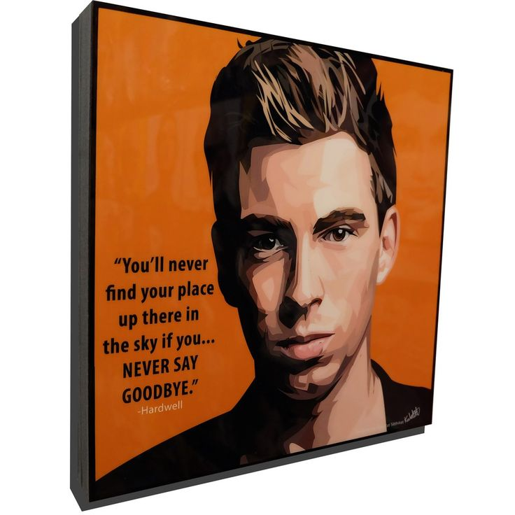 """Hardwell Inspired Mounted Plaque """"You'll never find your place up there in the sky if you....NEVER SAY GOODBYE."""""""