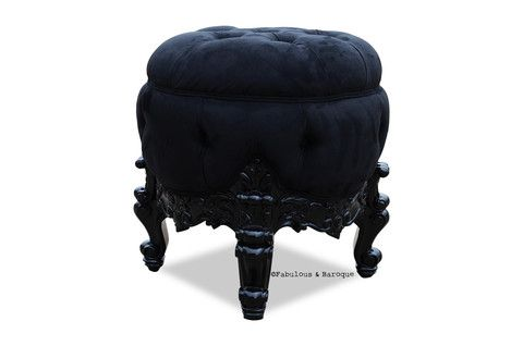 Absolom Roche Dressing Table Pouf Chair -- I so need to recreate this pouf some how... <3