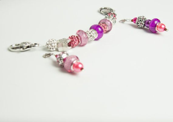 Handmade stitch markers with holder, beaded stitch markers, a pair of stitch markers, beautiful crocheter knitter gift, removable universal
