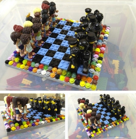 17 Best Images About Chess Sets Of Bricks On Pinterest