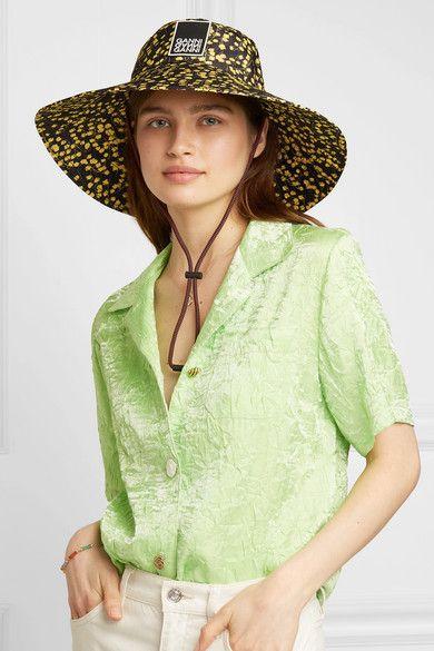 75fcf4dccb51 GANNI - Appliquéd floral-print shell bucket hat in 2019 | Sun Hat ...