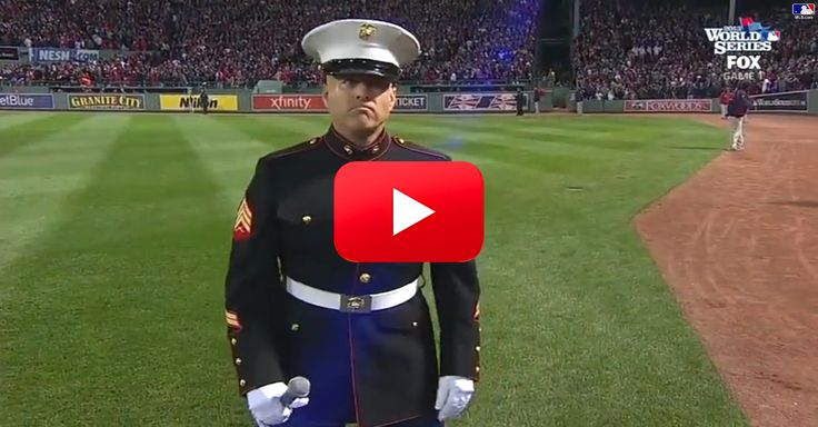 """This Marine Stuns the Crowd With His Beautiful Rendition of """"God Bless America"""" 