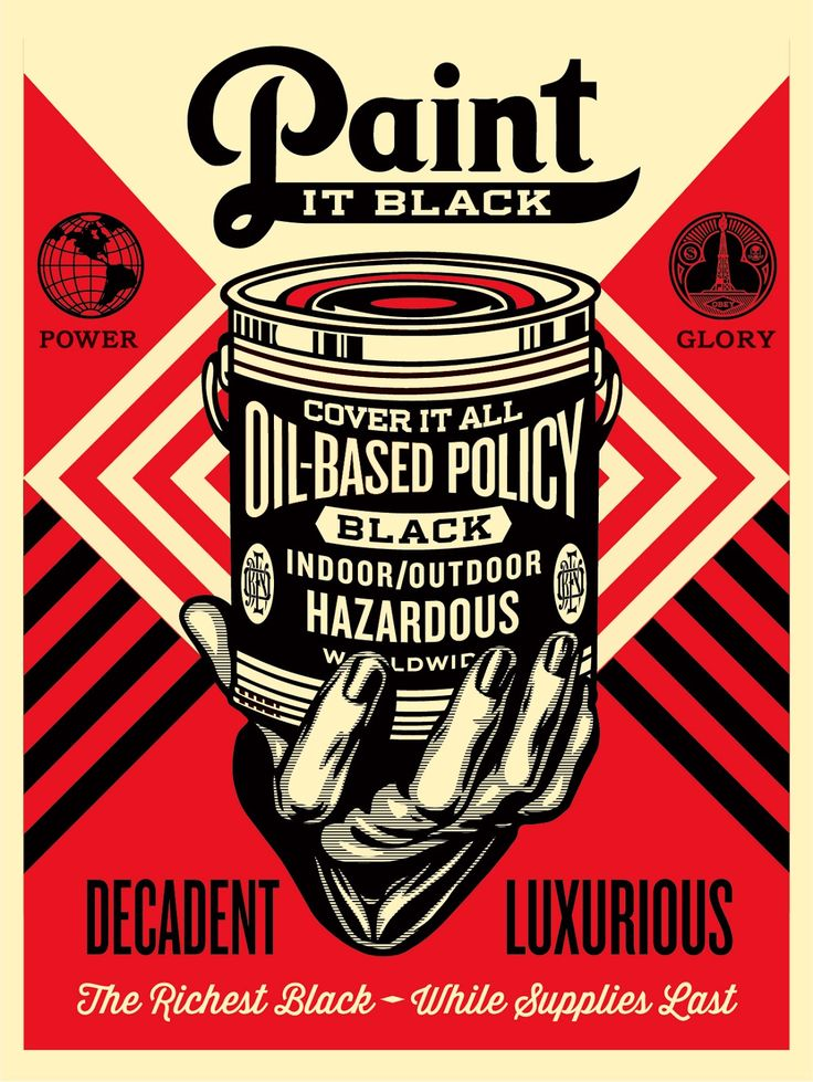 Shepard Fairey Paint It Black Hand Edition Print Release