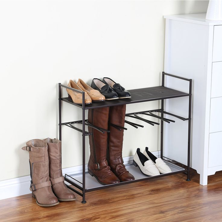 Check out our NEW Stackable Boot and Shoe Rack! Easily stack a second shoe rack on top to double your shoe storage space. See more: https://www.tidyliving.com/stackable-boot-and-shoe-rack.html?utm_content=buffer92639&utm_medium=social&utm_source=pinterest.com&utm_campaign=buffer  #TidyLiving #ShoeStorage #StorageSolutions #ShoeRack #ShoeShelf #DormLiving #College #CondoLiving #Organize