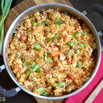 Chorizo Chicken Jambalaya - because everybody has Jambalaya for Easter dinner. :)