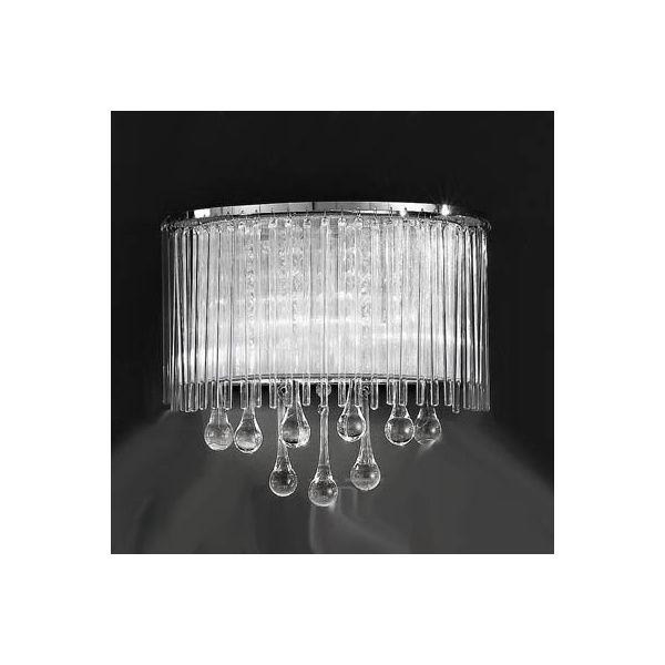 Franklite FL2161/2 Spirit 2 Light Crystal Wall Light Polished Chrome