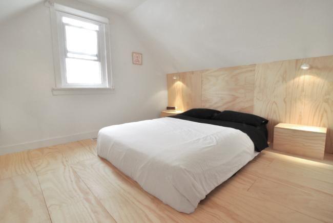 sperrholzplatten schlafzimmer dielenboden birke leuchten