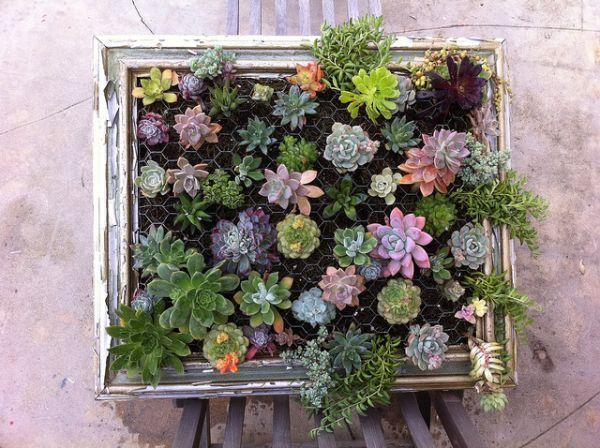 idée DIY pour déco dans un cadre en bois