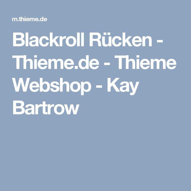 Blackroll Rücken - Thieme.de - Thieme Webshop - Kay Bartrow