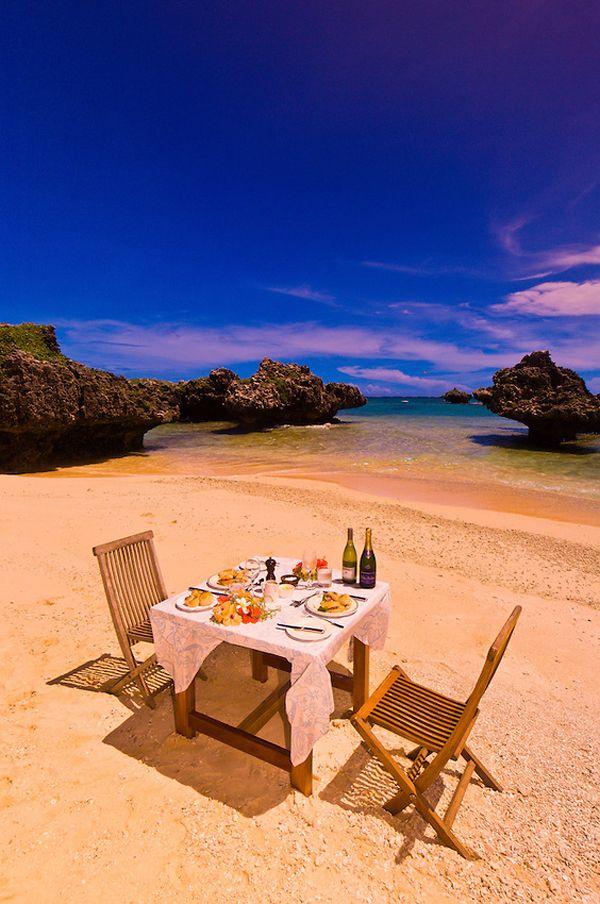 honeymoon lunch on a deserted island Vatulele