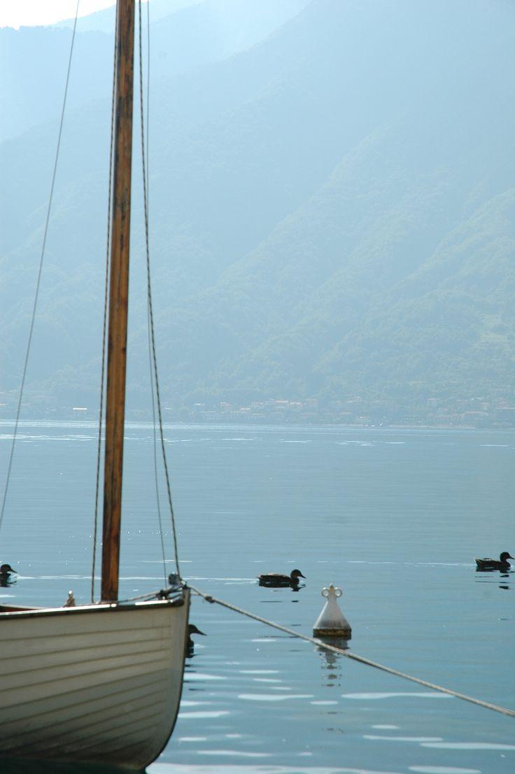 Calm waters down on the lakeside, Sala Comacina, Lake Como