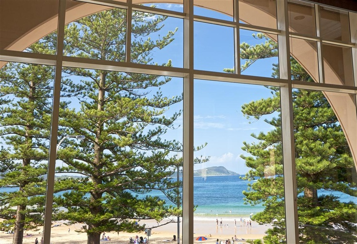 The view from Lord Ashley Lounge - Crowne Plaza Terrigal
