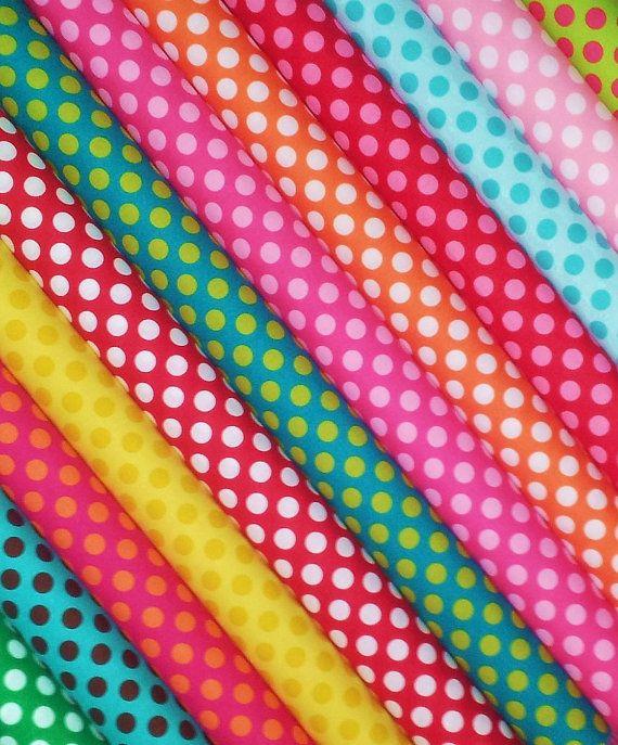 A Dozen Dots - Michael Miller Ta Dot Polka Dots