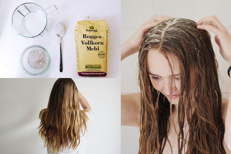 Haare nur 1x pro Woche mit Mehl waschen, weil's funktioniert (: