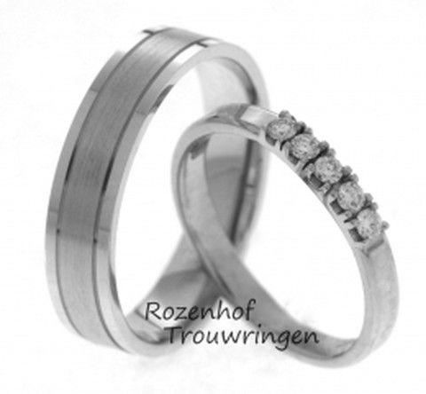 Tijdloze romantiek in witgoud met diamanten