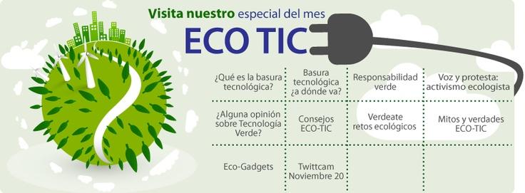 Nuestro especial  de Noviembre esta dedicado a la tecnología verde y a conocer cómo el mundo digital afecta y contamina el medio ambiente, pero especialmente busca que aprendamos qué podemos hacer para evitar convertirnos en generadores de e-waste y ganar puntos en favor del planeta.