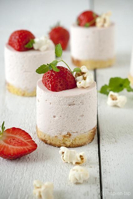 Aardbeienmousse met mascarpone - Hap & Tap !
