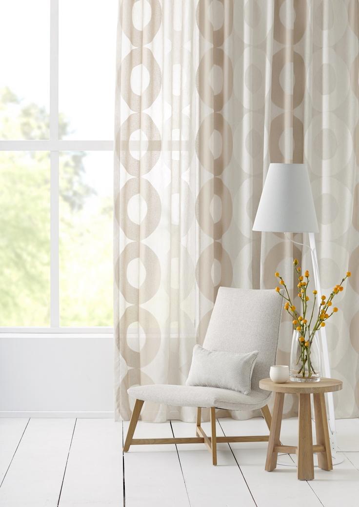 Horizon by Warwick Fabrics.  Ripplefold curtain and cushion manufactured by BQ Design.