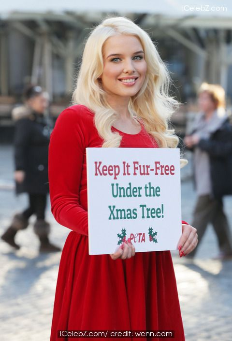 Helen Flanagan takes part in a photocall for PETA's 'Keep It Fur-Free Under the Xmas Tree' campaign at Covent Garden Piazza http://www.icelebz.com/events/helen_flanagan_takes_part_in_a_photocall_for_peta_s_keep_it_fur-free_under_the_xmas_tree_campaign_at_covent_garden_piazza/photo1.html