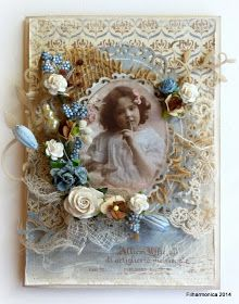 Live & Love Crafts' Inspiration and Challenge Blog: Pion Design - Shabby chic card by Heidi