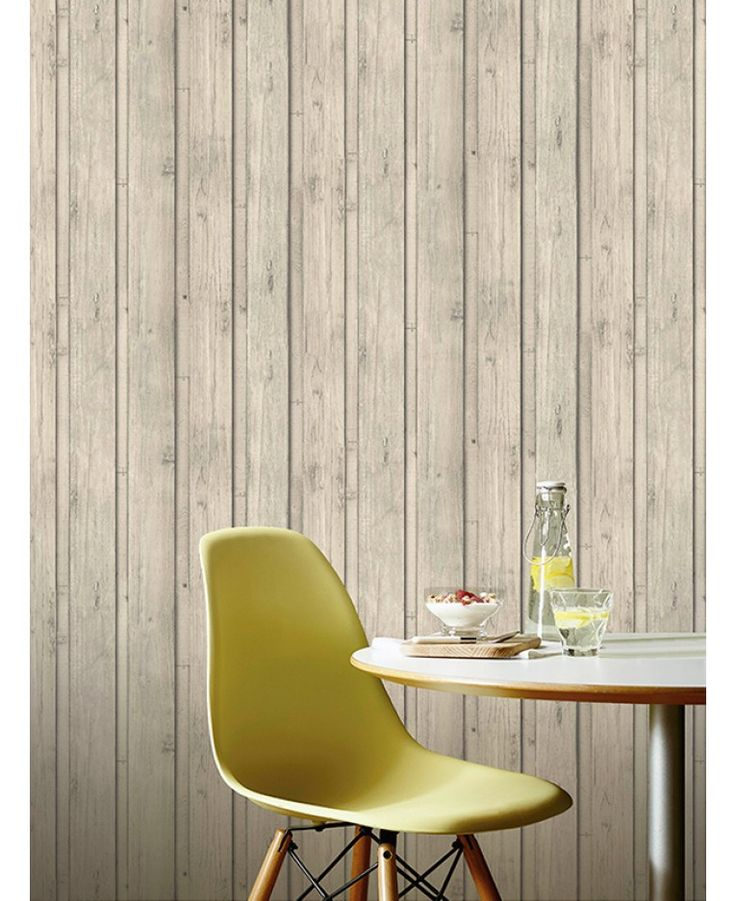 This fantastic Skandi Plank Wallpaper will add a stylish and contemporary touch to any room. The design features realistic Scandinavian bleached wood panels in natural shades of beige and taupe, with a detailed wood grain effect in darker tones.
