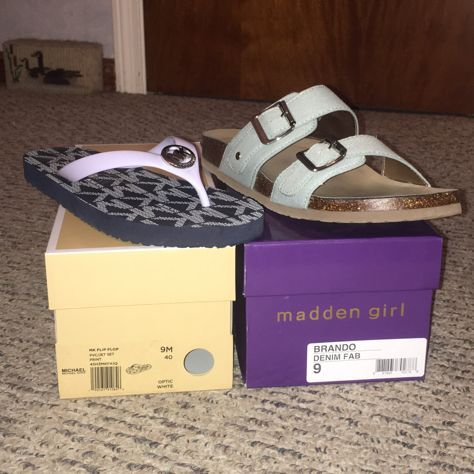 Missing summer already! Two of my favorite pairs of shoes from this summer: Brando by Madden Girl (From Designer Shoe Warehouse) and Michael Kors flip flops (From Marshalls)!