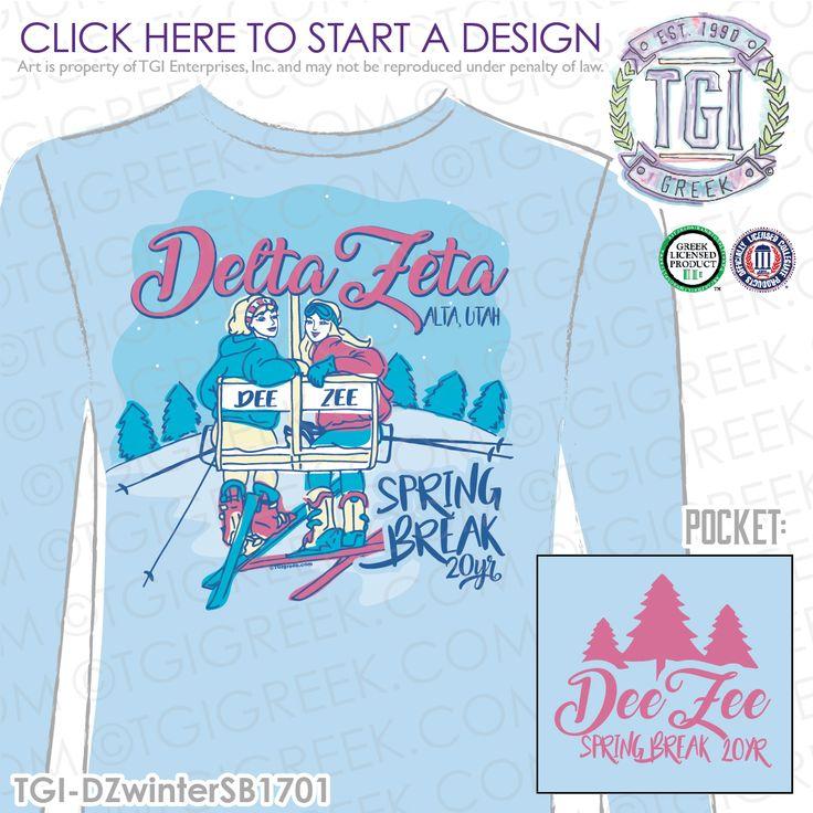 Delta Zeta | ΔZ | DeeZee | Spring Break | Spring Break Shirt | Sorority Spring Break | TGI Greek | Greek Apparel | Custom Apparel | Sorority Tee Shirts | Sorority T-shirts | Custom T-Shirts