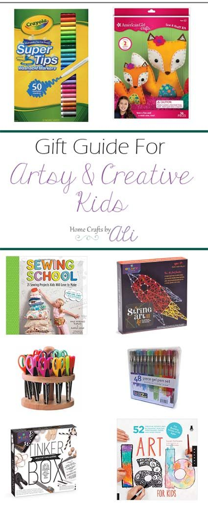 Gift Guide for Artistic and Creative Kids or Tweens - A list full of unique gift ideas for a young artist. Craft supplies, art kits, creative books, STEM toys that encourage hours of imagination and creation.