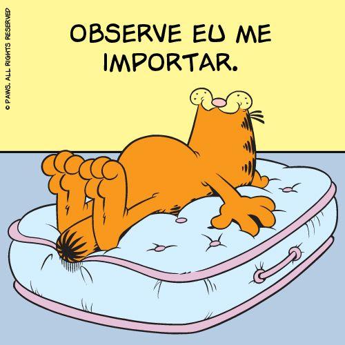 Quando ele resumiu bem nosso sentimento em relação às pessoas dramáticas. | 12 reações do Garfield que poderiam facilmente ter vindo de você