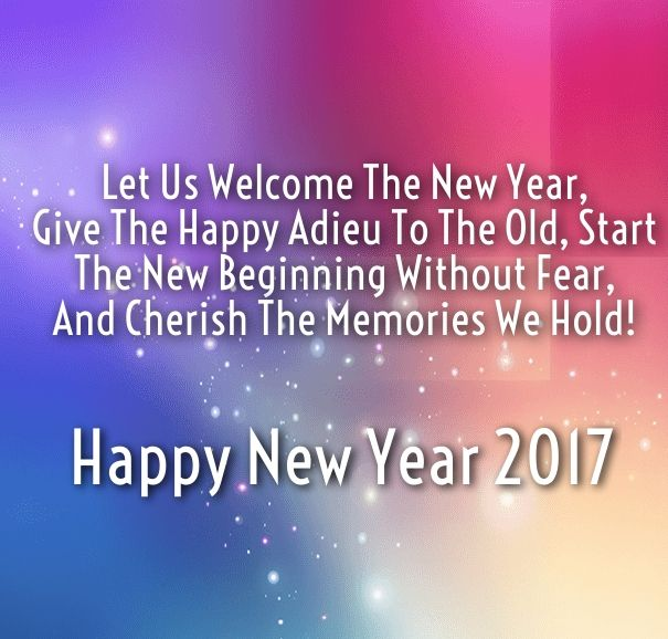 welcome New Year 2017 quotes wishes
