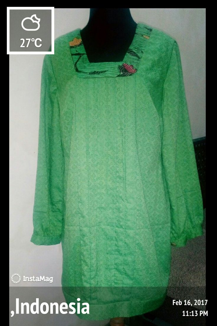Green doby ..pleat, sleeves with manset
