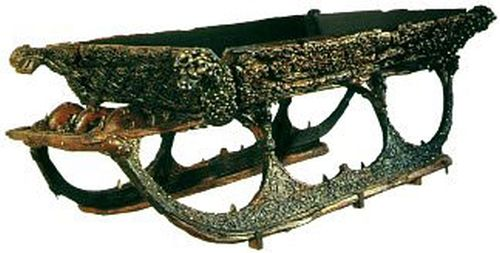 The Oseberg Viking Ship BurialFour wooden sledges were also uncovered, three of which, were covered in ornate carvings