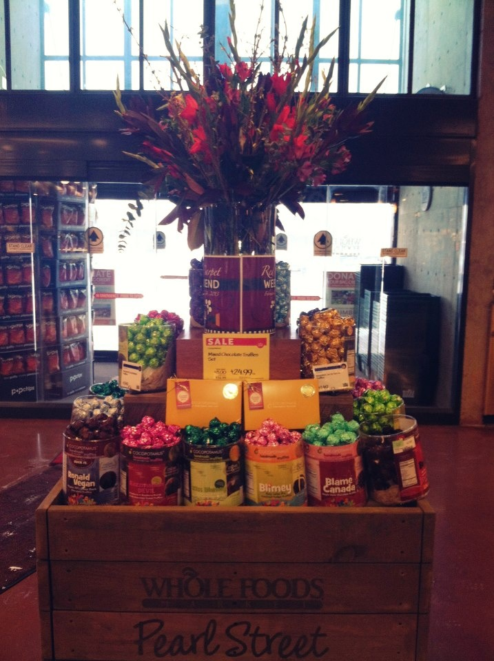 Cocopotamus chocolate truffles are the celebrity gift for the Oscars again this year!  Here's a Red Carpet display at Whole Foods Market (Pearl store) in CO.  Cocopotamus by NYDC Chocolate