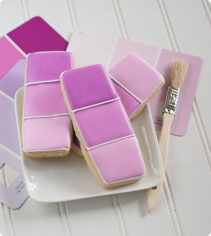 radiant orchid paint chip cookies ... pantone of the year 2014