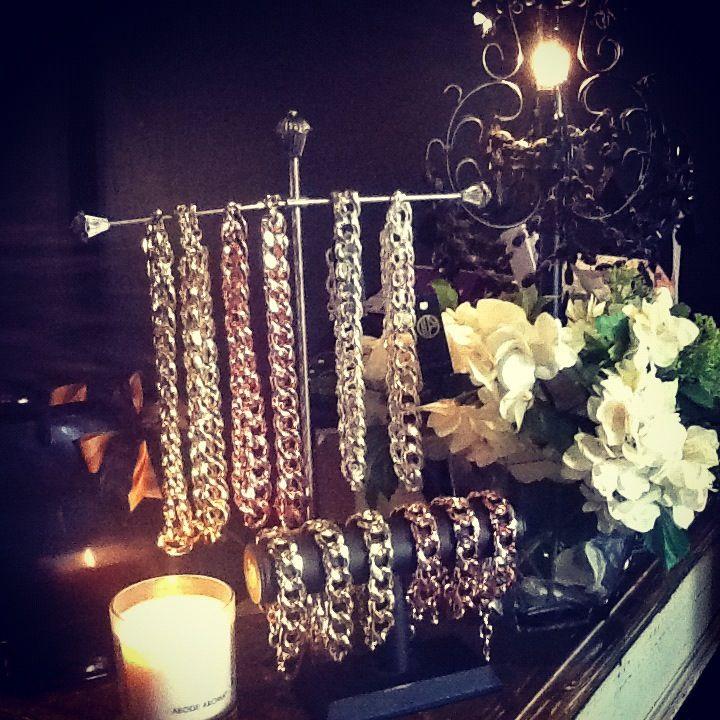 Amazing chunky chain neckpieces and bracelet set. Great quality. Mara x