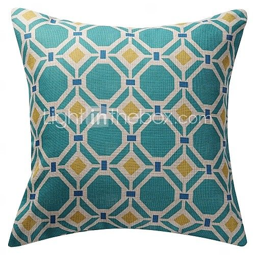 Cotton/Linen Pillow Cover , Geometric Modern/Contemporary - EUR €15.67