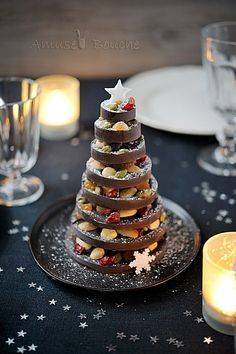 Amuse Bouche sapin en chocolat (Chocolate Christmas Tree)