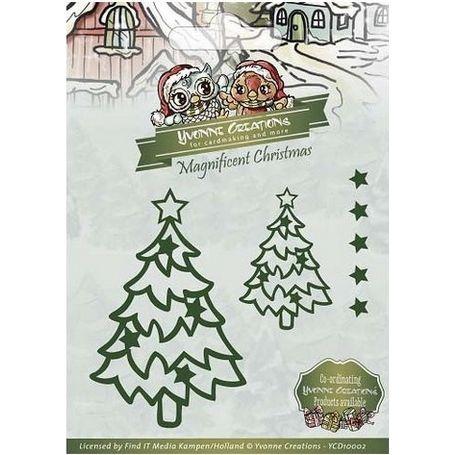Find It Trading - CHRISTMAS STAR TREE - vyřezávací šablony - Pretty Papers