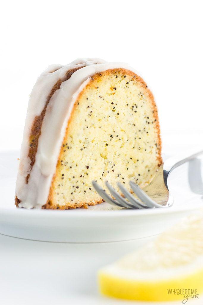 Lemon Poppy Seed Keto Gluten Free Pound Cake Recipe With