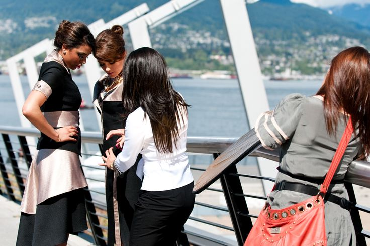 An amazing day in sunny day shooting in Coal Harbour, #Vancouver  #PorsciaYeganeh® #fashion  #Backstage #fashionblogger