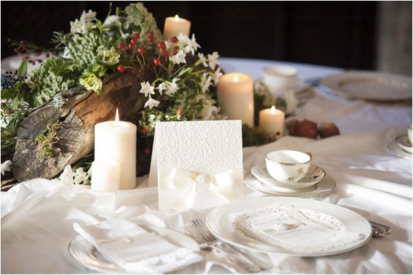A Winter's Tale - a warm winter wedding ideas shoot from Hampden House in Buckinghamshire, I love the mix of berries and Jasmin.