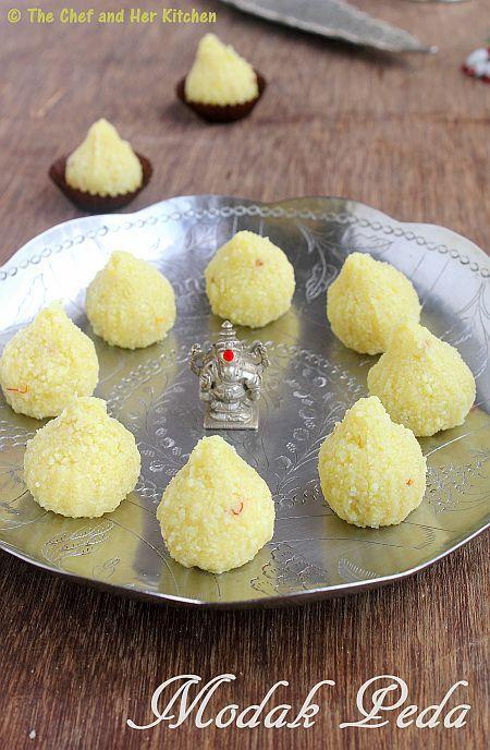 THE CHEF and HER KITCHEN: Easy Modak Recipe | Paneer Modak Peda | Ganesh Chaturthi Recipes