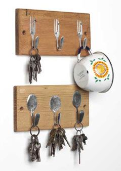 kitchen hooks DIY bend forks and spoons :=> M o n e y . S p d y W e b . c o m :=> Upload photo and earn money; it's that simple!!!