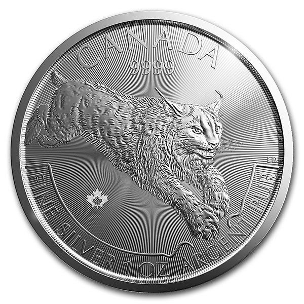 Buy 1 Oz Canadian Silver Lynx Coins Predator Series Rcm Money Metals Silver Coins For Sale Silver Coins Predator Series