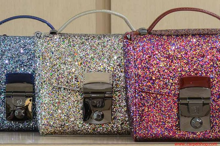 Mini Bag Trussardi Jeans glitter luminosi