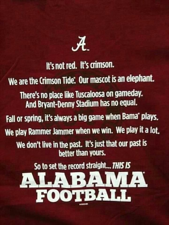 This is.......Alabama Football !!!!!