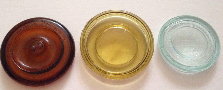 Antique Jar Lid Lot 1882 Amber Glass Mason Blue May 23 1871 Yellow Lid Canning Jar Lids Jar Lids Amber Glass