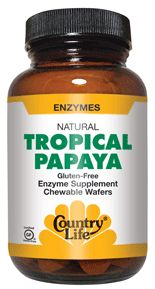 Papaya enzyme for heartburn