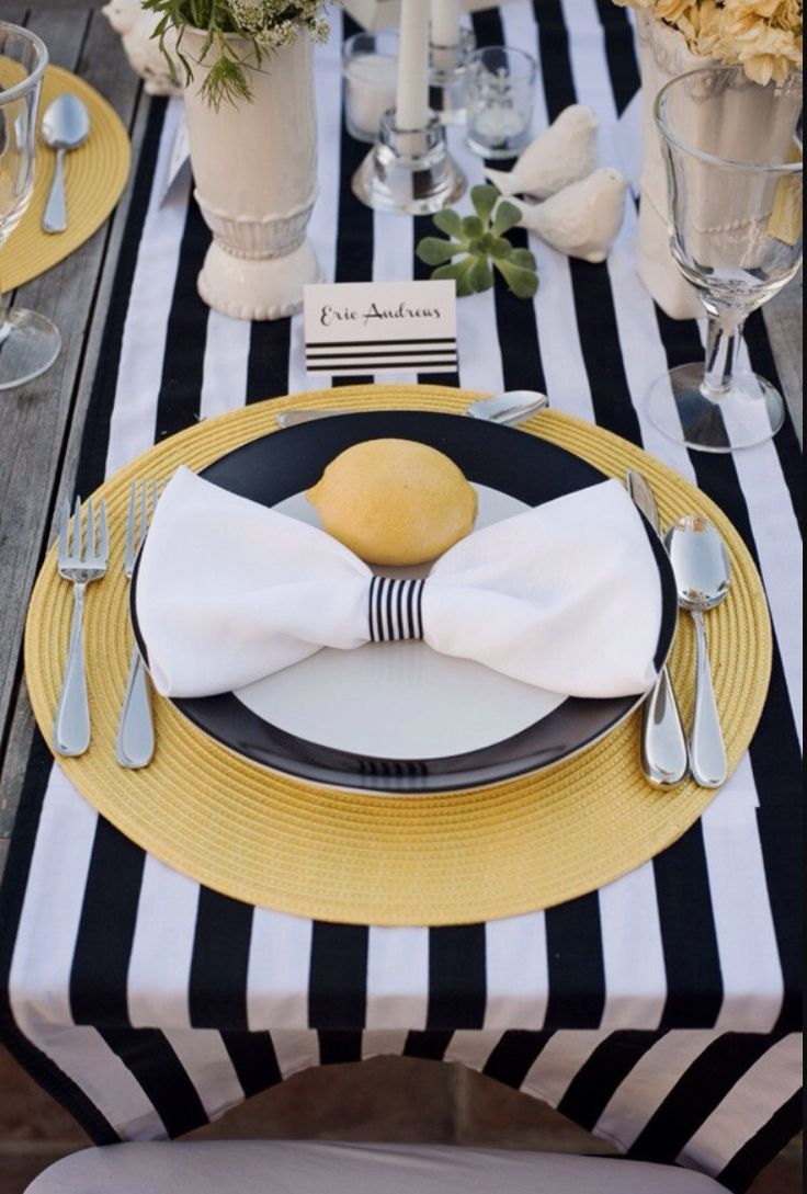 Striped tablecloth, table runner, cotton stripped, navy blue and white nautical, black and white, various colors avail, beach, baby shower by FantasyFabricDesigns on Etsy