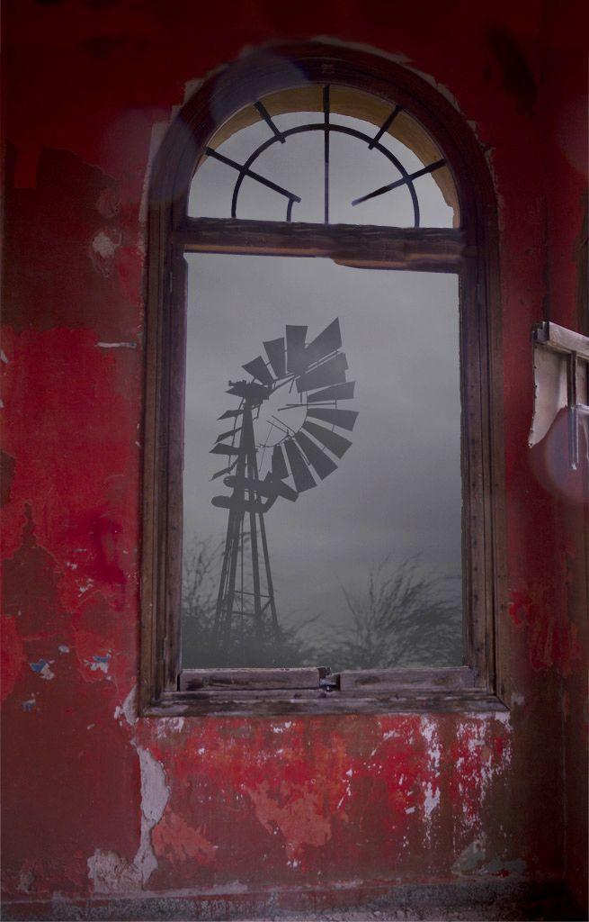 Windmill through the window